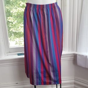 Vintage Queen Casuals Stripe Skirt